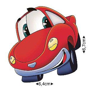 APM8-052 - Aplique Em Papel E MDF - Carro Vermelho