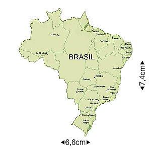APM8-1057 - Aplique Em Papel E MDF - Mapa Do Brasil