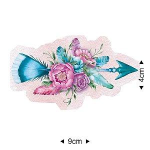 APM8-1110 - Aplique Em Papel E MDF - Flechas Flores