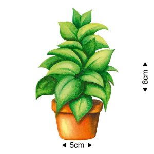 APM8-1183 - Aplique Em Papel E MDF - Folhagem Planta