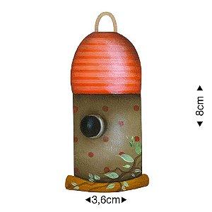 APM8-1186 - Aplique Em Papel E MDF - Casinha de Pássarinho