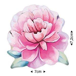APM8-1227 - Aplique Em Papel E MDF - Flor
