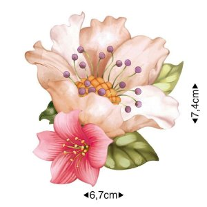 APM8-1231 - Aplique Em Papel E MDF - Flor