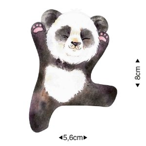 APM8-1266 - Aplique Em Papel E MDF - Panda Espreguiçando