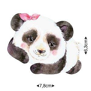 APM8-1268 - Aplique Em Papel E MDF - Panda Laço