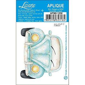 APM8-1298 - Aplique Em Papel E MDF - Kit Viagem Fusca