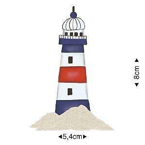 APM8-208 - Aplique Em Papel E MDF - Farol Com Areia