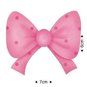 APM8-244 - Aplique Em Papel E MDF - Laço Rosa