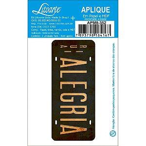 APM8-352 - Aplique Em Papel E MDF - Alegria