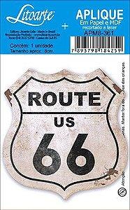 APM8-361 - Aplique Em Papel E MDF - Route 66