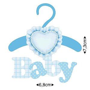 APM8-377 - Aplique Em Papel E MDF - Baby Menino