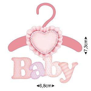APM8-378 - Aplique Em Papel E MDF - Baby Menina