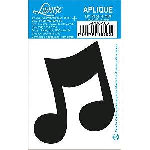 APM8-508 - Aplique Em Papel E MDF - Nota Musical 1