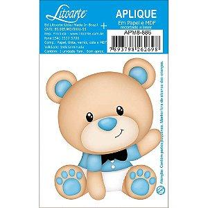 APM8-886 - Aplique Em Papel E MDF - Ursinho Bebê