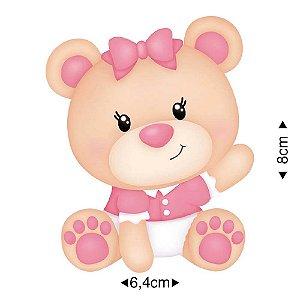APM8-887 - Aplique Em Papel E MDF - Ursinha Bebê