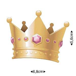 APM8-894 - Aplique Em Papel E MDF - Coroa De Princesa