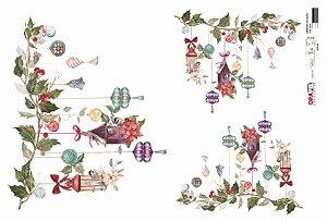 Papel para Decoupage de Natal Opa Opapel – 2810 – Enfeites de Natal