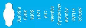 Stencil OPA Simples 10 x 30 cm 1473 Palavras Placas Alimento