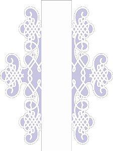 Stencil 15X20 Simples Negativo Moldura Arabesco II -Opa 2519