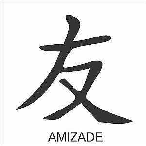Stencil 10X10 Simples Ideograma Amizade - Opa 224