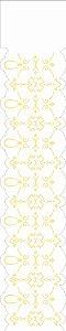 Stencil OPA Simples 6 x 30 cm - 2319 Arabesco Renda II