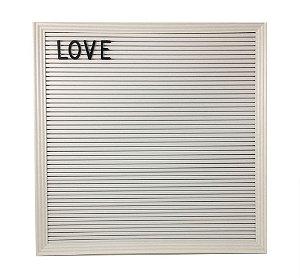 Quadro Letter Board Letreiro 188 Letras - Branco/Branco