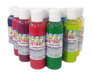 Kit Aquarela Tie Dye 17 Cores Para Tecido True Colors 60 ml