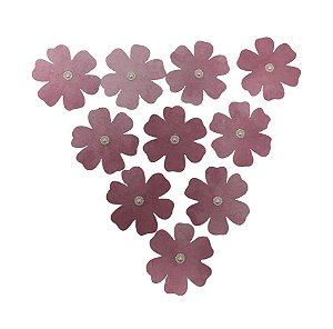 Flores de Papel Artesanal Marsala 6 Pétalas Gabi Paoletti
