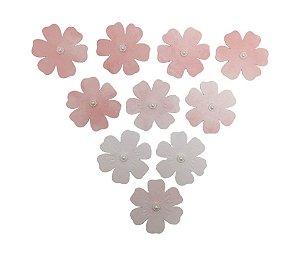 Flores de Papel Artesanal Rosa Claro 6 Pétalas Gabi Paoletti
