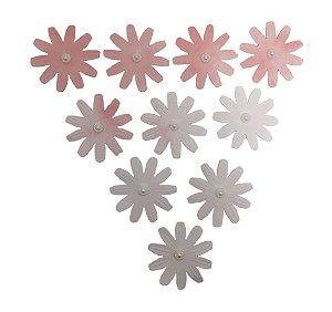 Flores Papel Artesanal Rosa Claro 10 Pétalas Gabi Paoletti