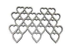 Apliques Coração Colméia Metalizado - Gabi Paoletti