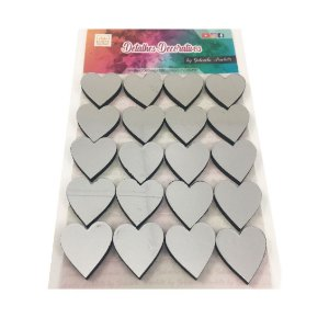 Apliques Coração Metalizado 20 unidades - Gabi Paoletti