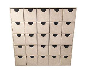 Organizador Quadrado Porta Treco 25 Gavetas MDF