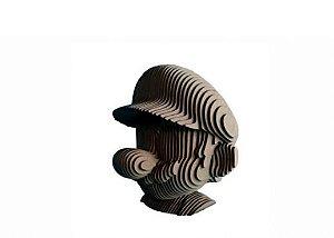 Busto Rosto Mario 3D Laser Em MDF 100% Qualidade Decoração