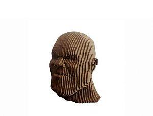 Busto Rosto Thanos 3D Laser Em MDF 100% Qualidade Decoração