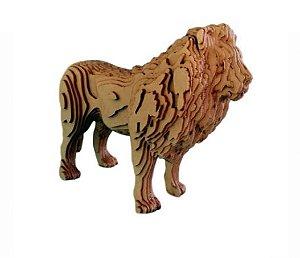 Leão 3D Laser Em MDF 100% Qualidade Decoração