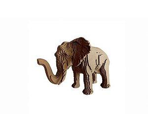 Elefante 3D Laser Em MDF 100% Qualidade Decoração