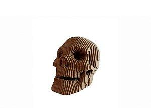 Busto Caveira G 3D Laser Em MDF 100% Qualidade Decoração
