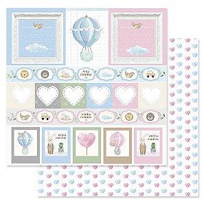 Papel Scrapbook - Scrap By Antonio Coleção Amor Eterno Baby Bebê Cartões 200407