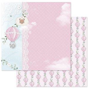 Papel Scrapbook - Scrap By Antonio Coleção Amor Eterno Baby Bebê Menina 200403