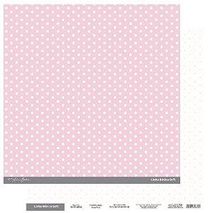 Papel Scrapbook - Scrap By Antonio Linha Básica Soft Rosa Poá 200426