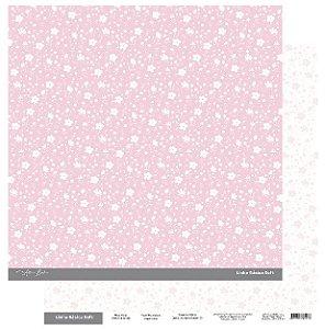 Papel Scrapbook - Scrap By Antonio Linha Básica Soft Rosa Floral 200428
