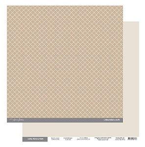 Papel Scrapbook - Scrap By Antonio Linha Básica Soft Marrom Clássico 200423