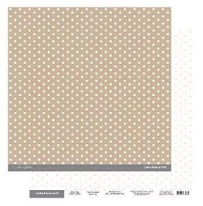 Papel Scrapbook - Scrap By Antonio Linha Básica Soft Marrom Floral 200422