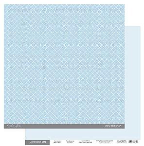 Papel Scrapbook - Scrap By Antonio Linha Básica Soft Azul Clássico 200411