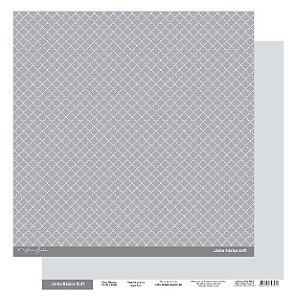 Papel Scrapbook - Scrap By Antonio Linha Básica Soft Cinza Clássico 200415