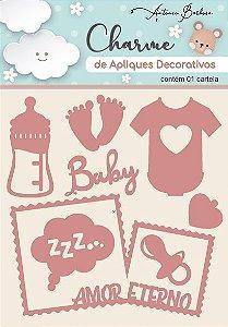 Charme Apliques Acrílico Decorativos Baby II Rose