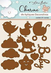 Charme Apliques Acrílico Decorativos Baby I Bronze
