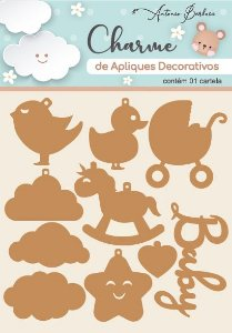 Charme de Apliques Decorativos MDF Baby I - Scrap By Antonio