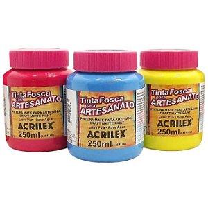 Tinta PVA Fosca para Artesanato Acrilex 250 ml